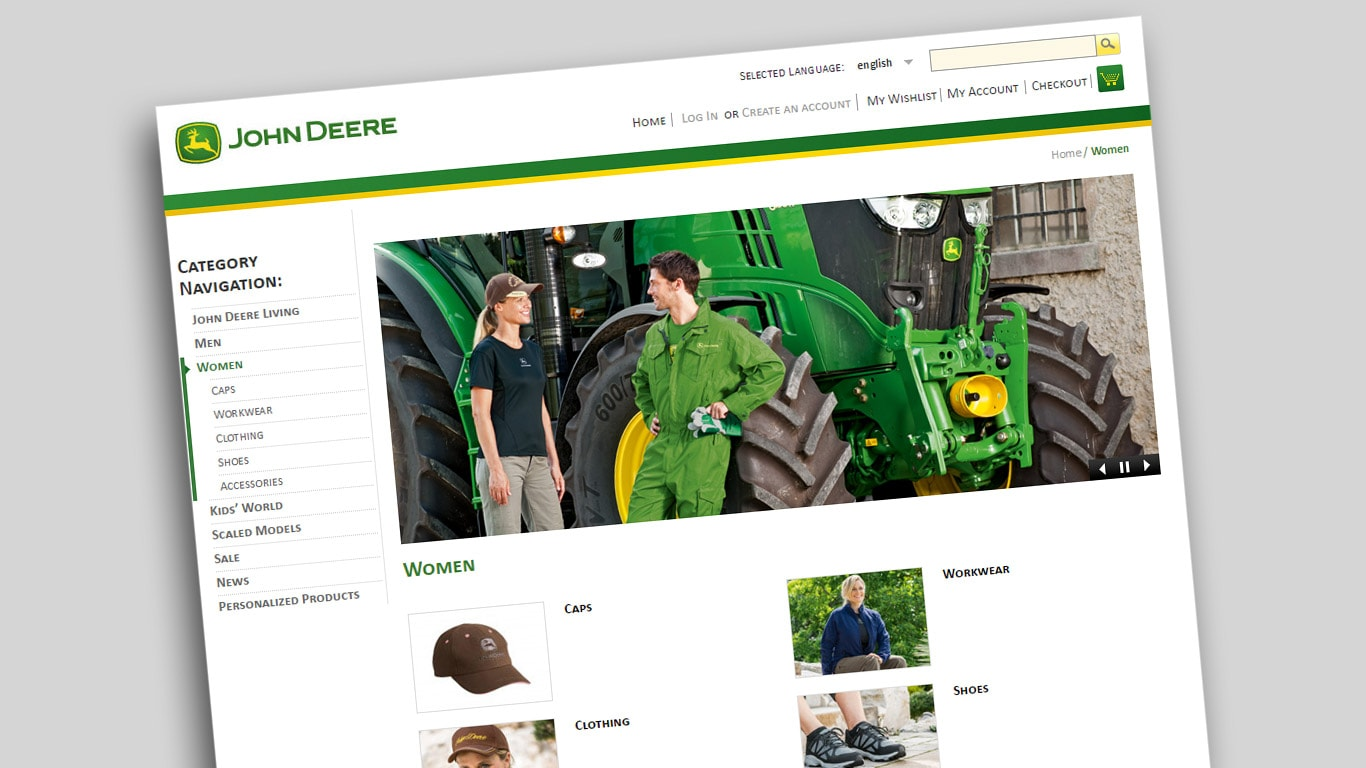 buy popular 77459 208fd Negozio online | John Deere IT